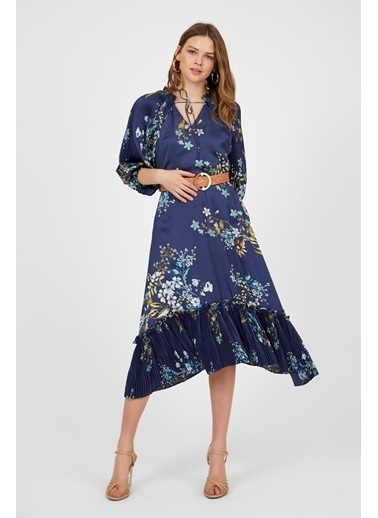 Setre Elbise Lacivert